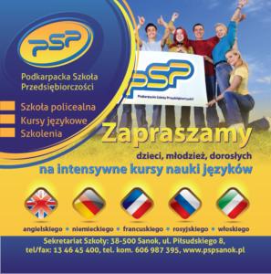 Kursy językowe - część plakatu.2